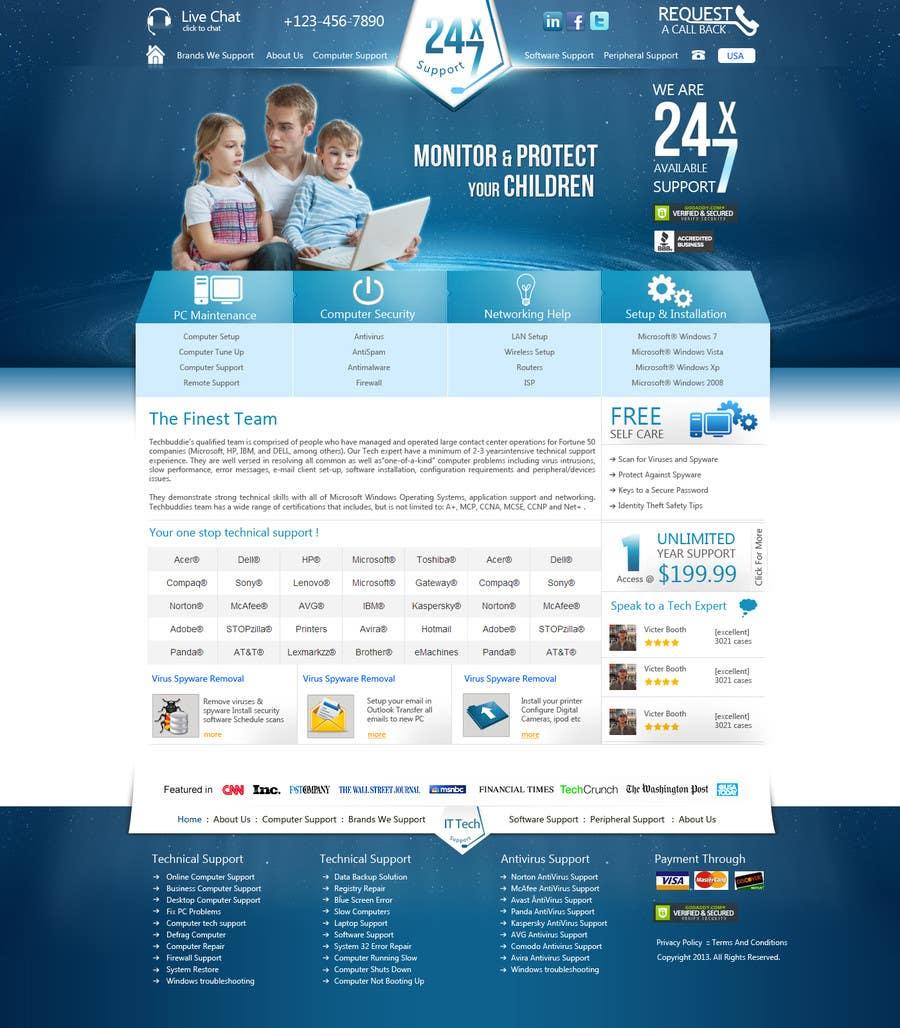 Inscrição nº 11 do Concurso para Wordpress Theme Design for IT Tech Support Help $650 to $1000