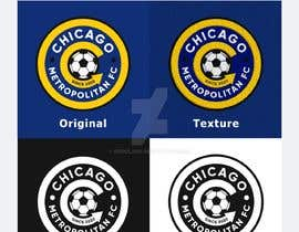 #14 для I need a logo with the wording Chicago Metropolitan FC Since 2020 that mix the two logos on file and keep the c with ball. Main colors should be Royal blue, Yellow and Dark gray. от JCPierola