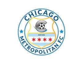 #17 для I need a logo with the wording Chicago Metropolitan FC Since 2020 that mix the two logos on file and keep the c with ball. Main colors should be Royal blue, Yellow and Dark gray. от oumomenmr