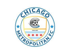 #19 для I need a logo with the wording Chicago Metropolitan FC Since 2020 that mix the two logos on file and keep the c with ball. Main colors should be Royal blue, Yellow and Dark gray. от oumomenmr