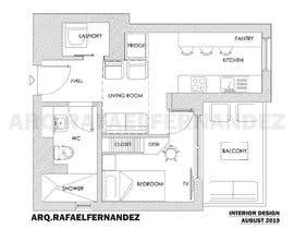 #84 untuk Please take a look on attached floor plan. We are looking for a way to move from 1 to 2 room flat oleh arqfernandezr