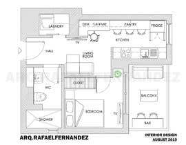 #90 untuk Please take a look on attached floor plan. We are looking for a way to move from 1 to 2 room flat oleh arqfernandezr