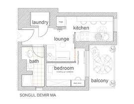 #64 untuk Please take a look on attached floor plan. We are looking for a way to move from 1 to 2 room flat oleh tosonguldemir