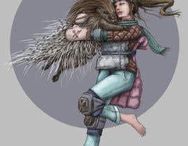 #112 cho Creative art of someone wearing battle armor hugging a porcupine. Artwork Illustration bởi Shaning