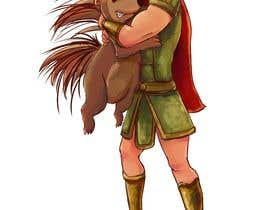 #104 cho Creative art of someone wearing battle armor hugging a porcupine. Artwork Illustration bởi jolar0143