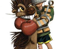 #102 cho Creative art of someone wearing battle armor hugging a porcupine. Artwork Illustration bởi AformatStudio