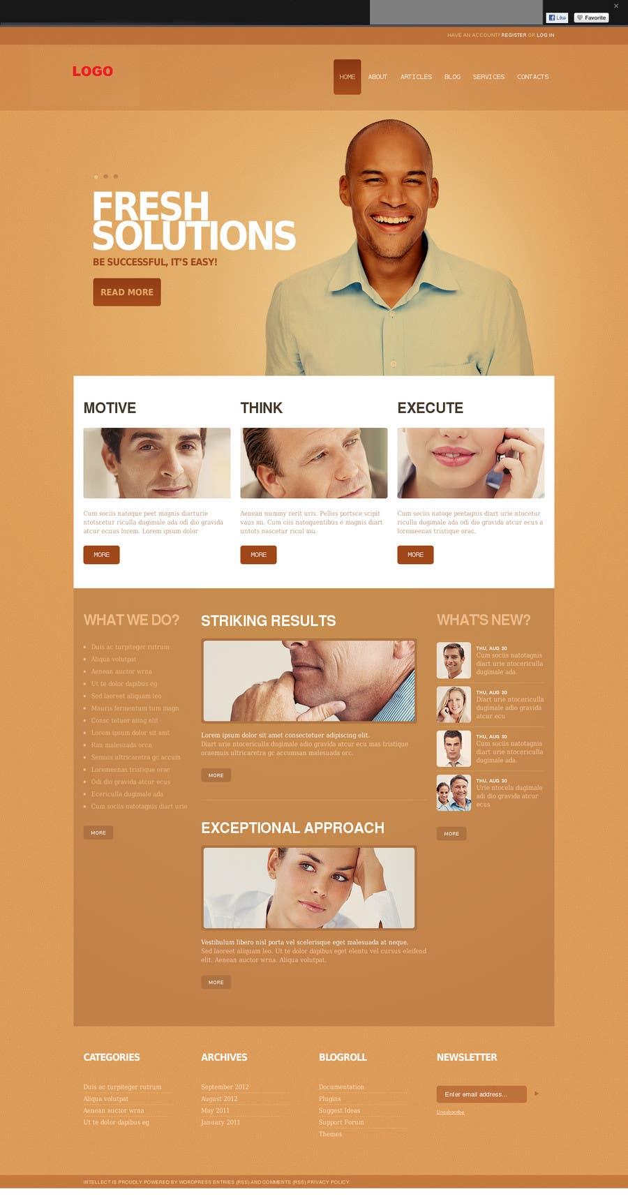 Inscrição nº                                         5                                      do Concurso para                                         Website Design for Index / Home Page Only psd file
