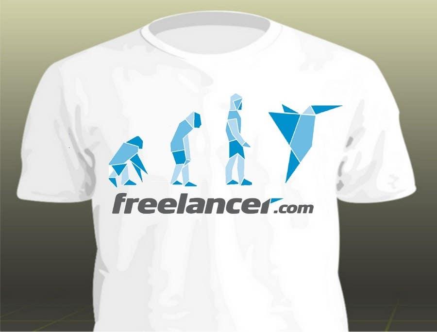 Zgłoszenie konkursowe o numerze #490 do konkursu o nazwie Need Ideas and Concepts for Geeky Freelancer.com T-Shirt
