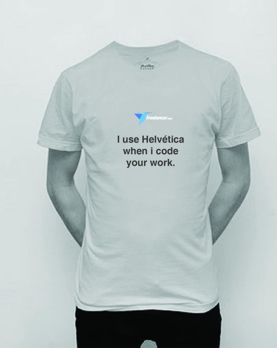 Zgłoszenie konkursowe o numerze #1559 do konkursu o nazwie Need Ideas and Concepts for Geeky Freelancer.com T-Shirt