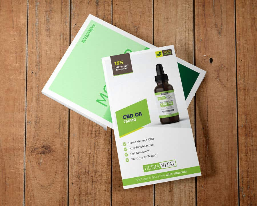 Inscrição nº 74 do Concurso para Create flyers/postcards for my CBD oil brand