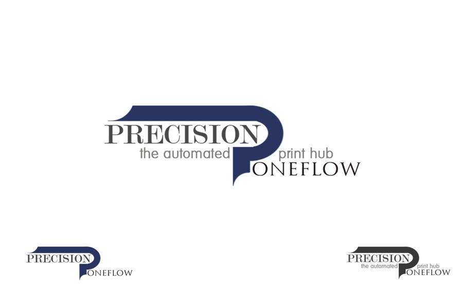 Contest Entry #                                        53                                      for                                         Logo Design for Precision OneFlow the automated print hub