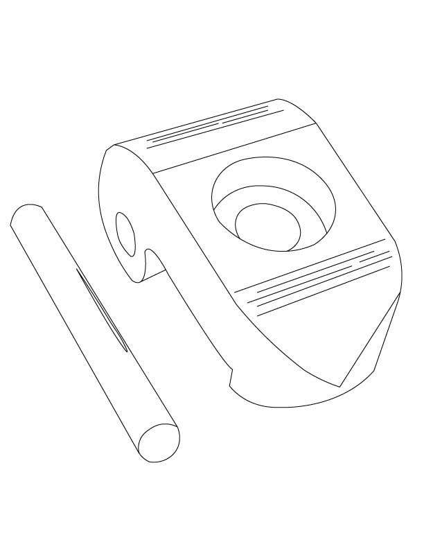 Contest Entry #7 for Lineart job needed for a simple object