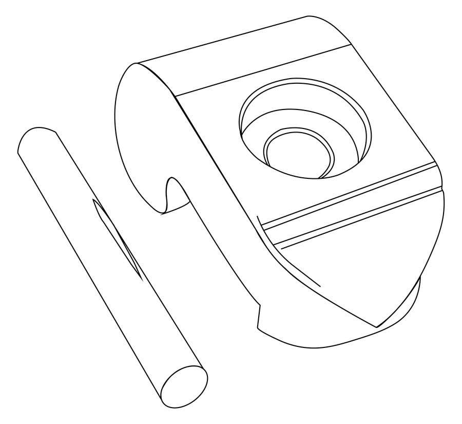 Contest Entry #6 for Lineart job needed for a simple object