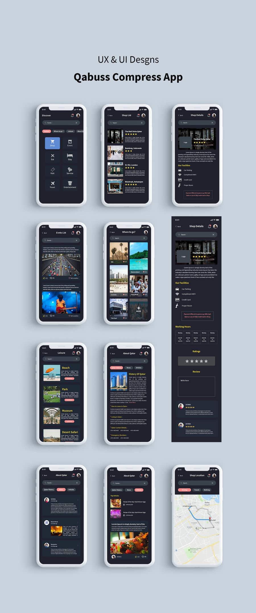 Konkurrenceindlæg #44 for Ui Ux Design for a Mobile App