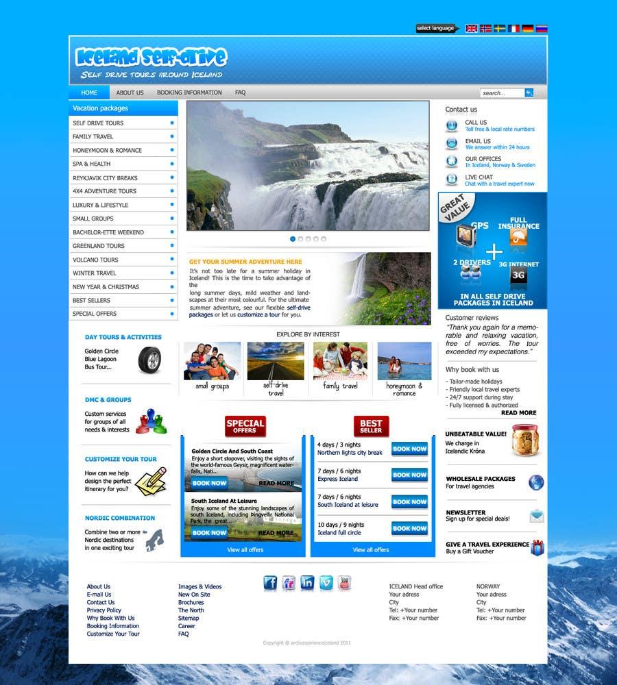 Penyertaan Peraduan #                                        11                                      untuk                                         Website Design for Iceland self-drive tours
