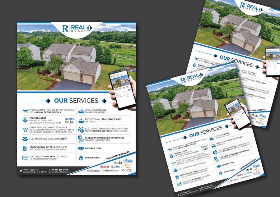 Bài tham dự cuộc thi #122 cho Custom one page Professional Brochure for Real Estate Company