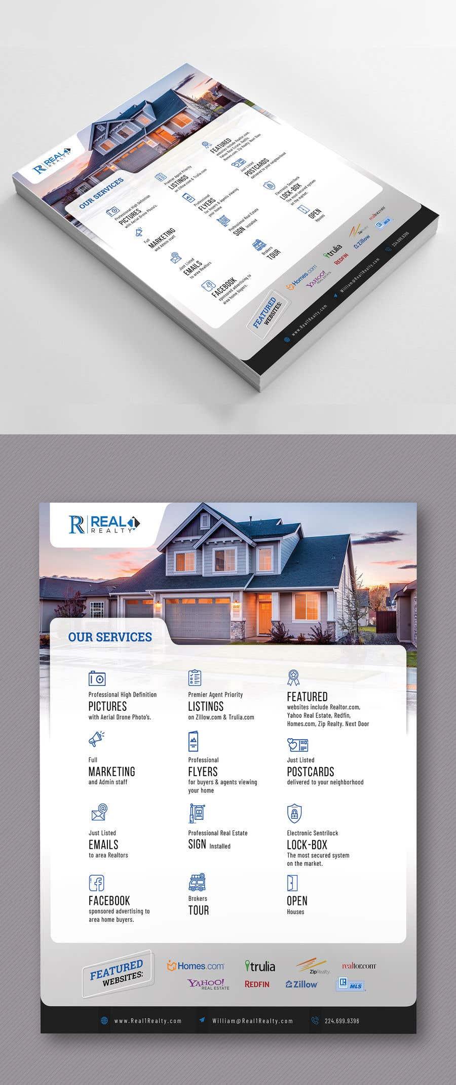 Bài tham dự cuộc thi #99 cho Custom one page Professional Brochure for Real Estate Company