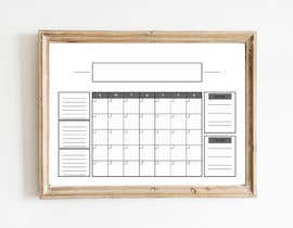 #51 untuk Design Calendar Section / Notes Section For a Home Dry Erase Whiteboard oleh SiddharthBakli