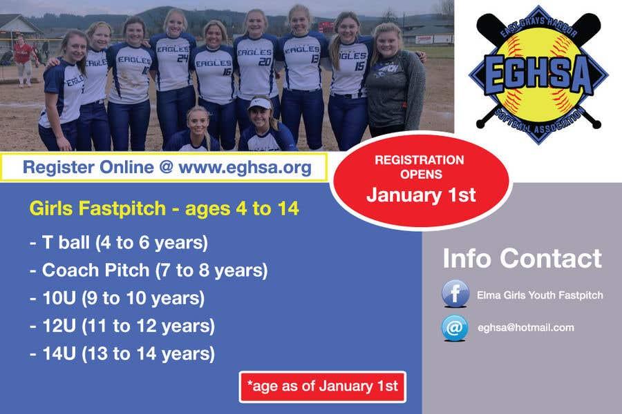 Konkurrenceindlæg #13 for Softball Registration Sign Design