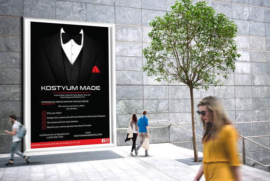 Penyertaan Peraduan #16 untuk Poster Design - Custom Suits