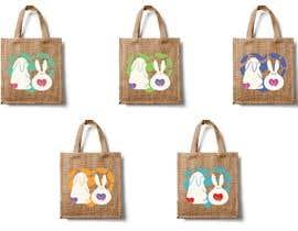 #176 untuk Rabbit Themed Hemp Shopper Bags oleh barbarakoncz