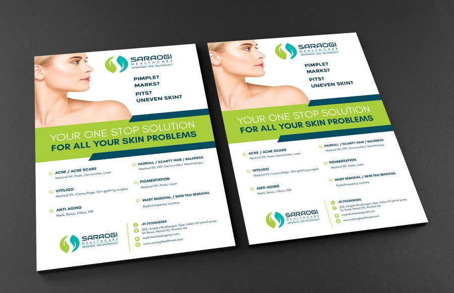 Bài tham dự cuộc thi #42 cho Design a flyer for dermatology clinic
