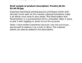 Ankitaad90 tarafından Garment description için no 2