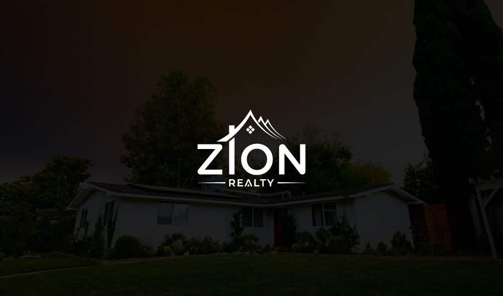 """Penyertaan Peraduan #442 untuk Logo for """"Zion Realty"""""""
