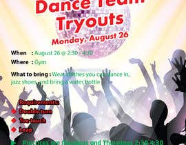 #18 cho Dance team tryout flyer bởi avrinchowdhury