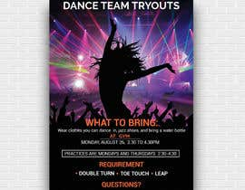 #19 cho Dance team tryout flyer bởi deybonna