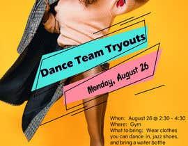#17 untuk Dance team tryout flyer oleh USAmakhan099
