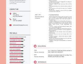 #18 para Redesign Resume / CV (Content Ready) - Only Design Template Needed por UiUx8