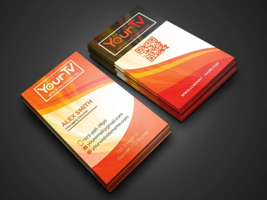 Kilpailutyö #58 kilpailussa Design Namecard YourTV
