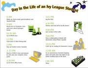 """Graphic Design Inscrição do Concurso Nº1 para Seeking beautiful infographic on """"Day in the life of an Ivy League student"""""""