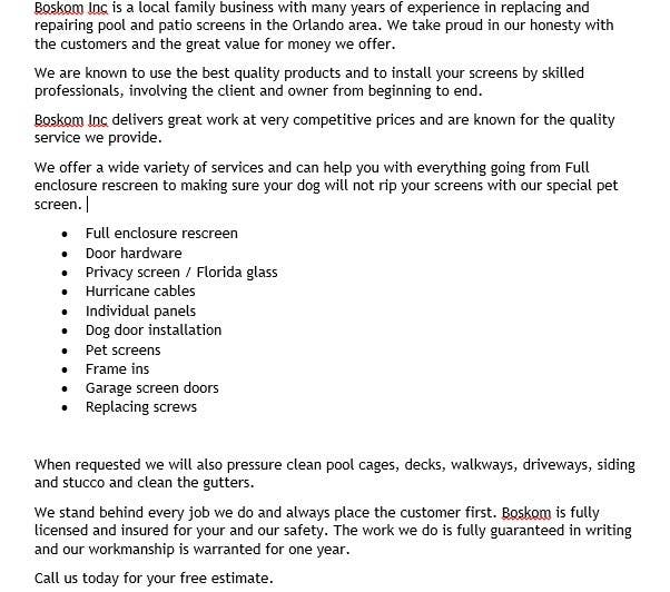 entry 13 by ereandrill for professional company introduction letter