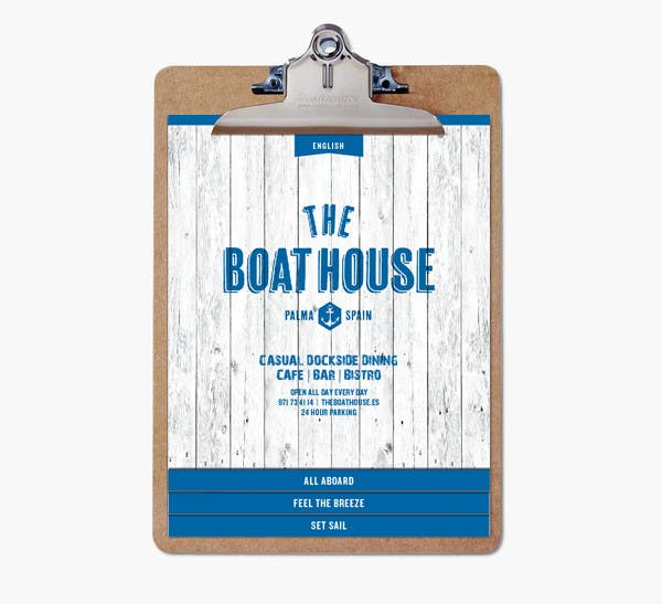 Penyertaan Peraduan #                                        6                                      untuk                                         I need some Graphic Design for the Boathouse Restaurant and Bar
