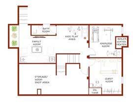Nro 48 kilpailuun Design Floor plans for finished basement käyttäjältä sunil1980gupta