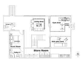 Nro 25 kilpailuun Design Floor plans for finished basement käyttäjältä asfiaasa