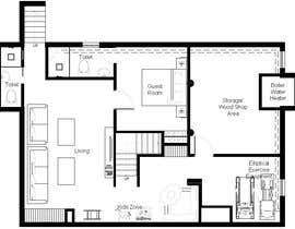 Nro 16 kilpailuun Design Floor plans for finished basement käyttäjältä alfaysal87
