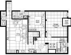 Nro 27 kilpailuun Design Floor plans for finished basement käyttäjältä alfaysal87