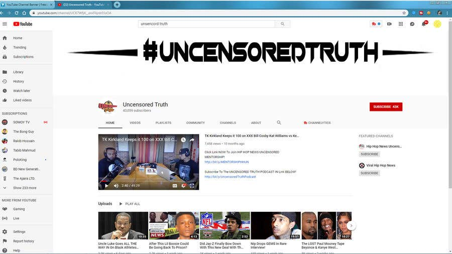 Penyertaan Peraduan #138 untuk YouTube Channel Banner