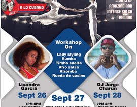 #136 untuk Flyers for A Dancing workshop special event and practice party in miami oleh angadsingh112