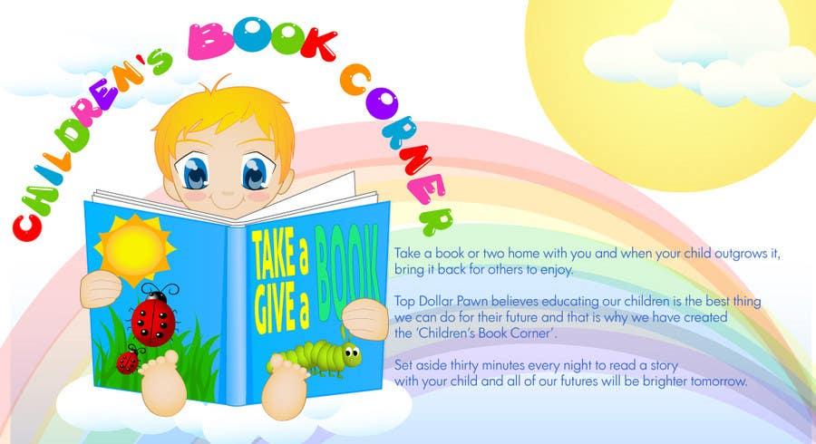 Entri Kontes #10 untukIllustration Design for The Children's Book Corner at Top Dollar Pawn
