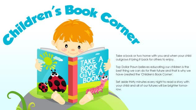 Inscrição nº                                         2                                      do Concurso para                                         Illustration Design for The Children's Book Corner at Top Dollar Pawn