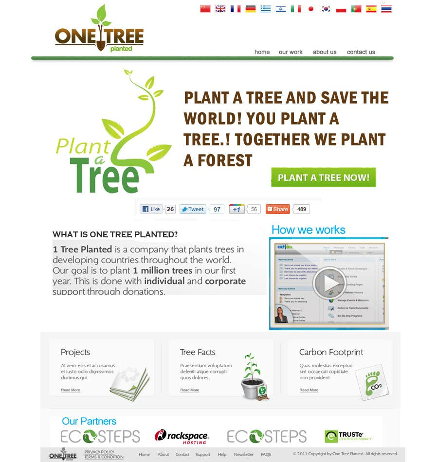 Contest Entry #168 for Website Design for 1 Tree Planted