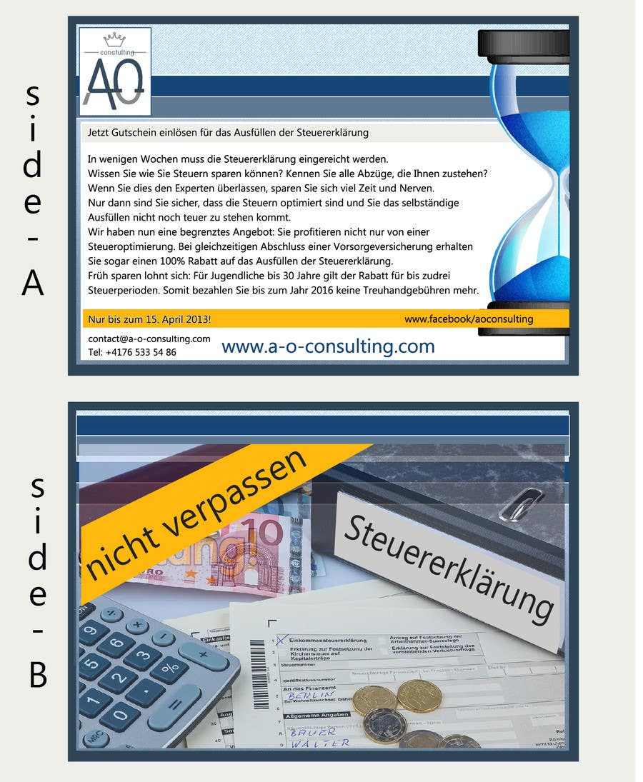 Inscrição nº                                         14                                      do Concurso para                                         Flyer Design for Taxes and retirement insurace