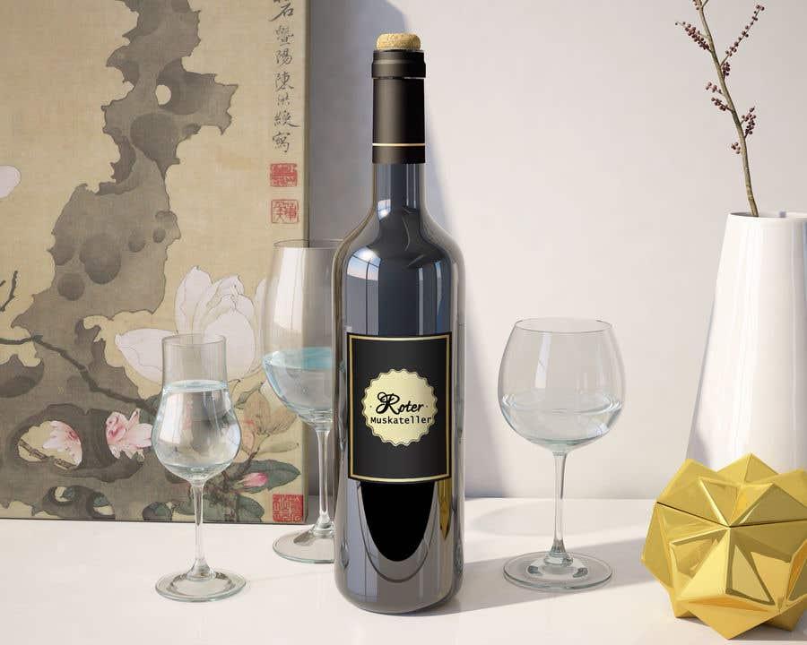 Proposition n°                                        10                                      du concours                                         wine bottle label design