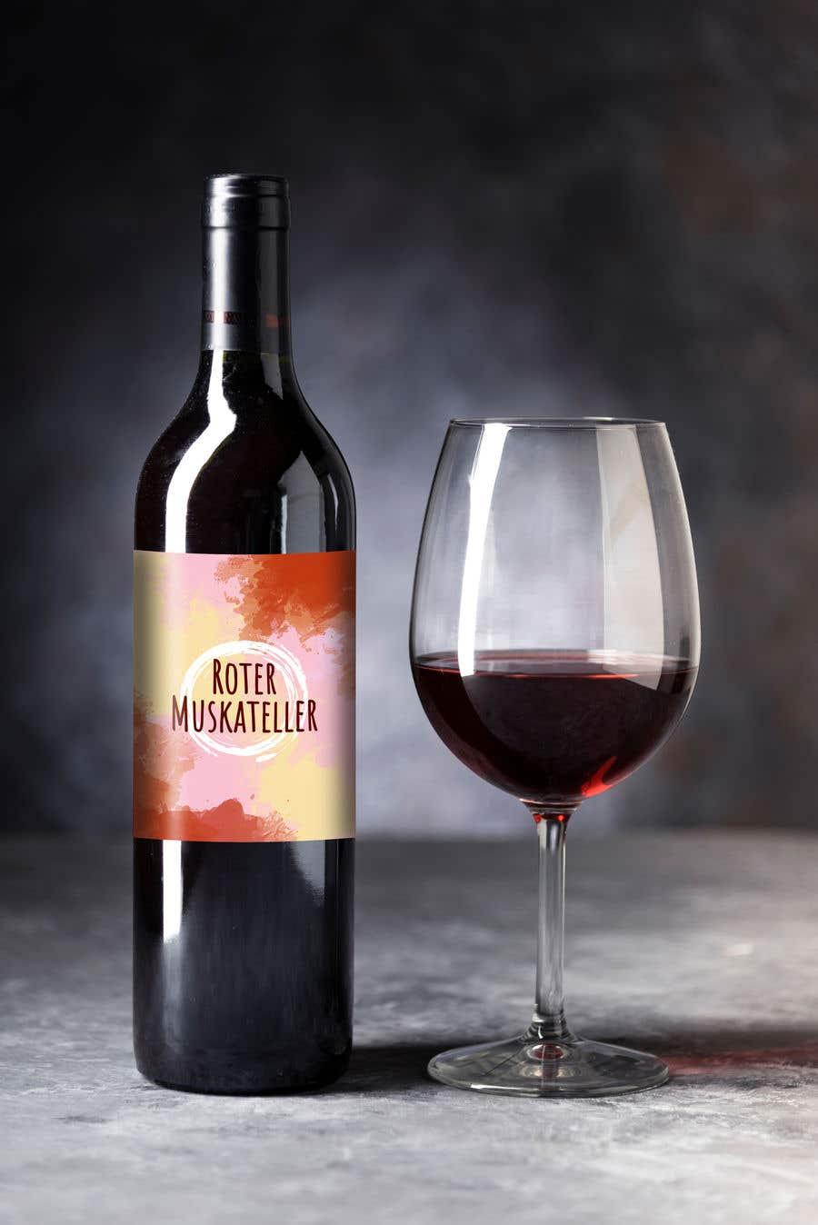 Proposition n°                                        25                                      du concours                                         wine bottle label design