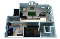 Basement Planing and Interior Design için 3D Modelling12 No.lu Yarışma Girdisi