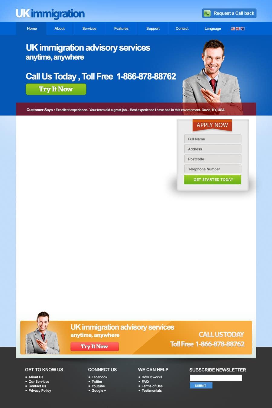 Penyertaan Peraduan #2 untuk Website Design for landing/splash page
